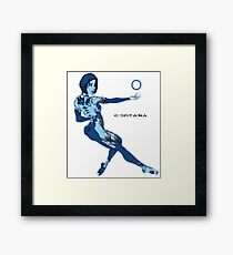 Cortana meet Cortana Framed Print
