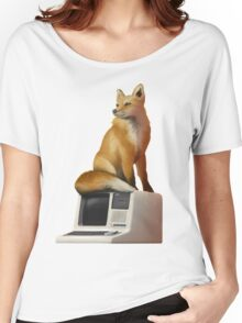 The Fox on a Computer Women's Relaxed Fit T-Shirt