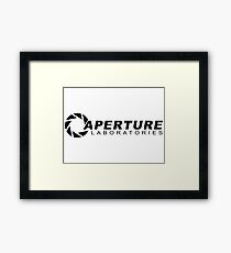 Aperture Laboratories logo Framed Print