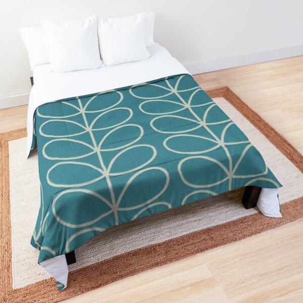 linear stem,blue, white  Comforter