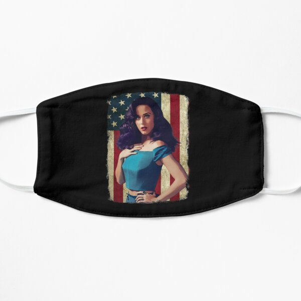 Vintage American Flag Katy Perry Legend Flat Mask