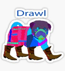 colorful pug Sticker