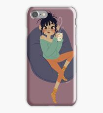Cutie with a coffee, iPhone Case/Skin