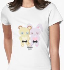 Adorable Gamer ~ Teddy & Bunny Fitted T-Shirt