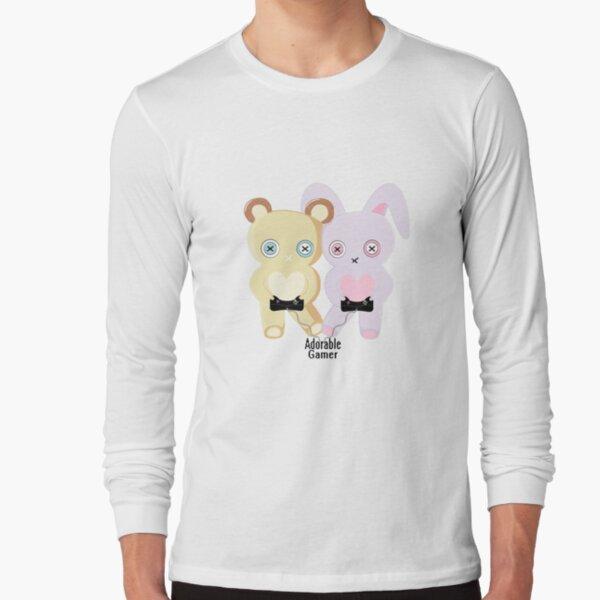 Adorable Gamer ~ Teddy & Bunny Long Sleeve T-Shirt