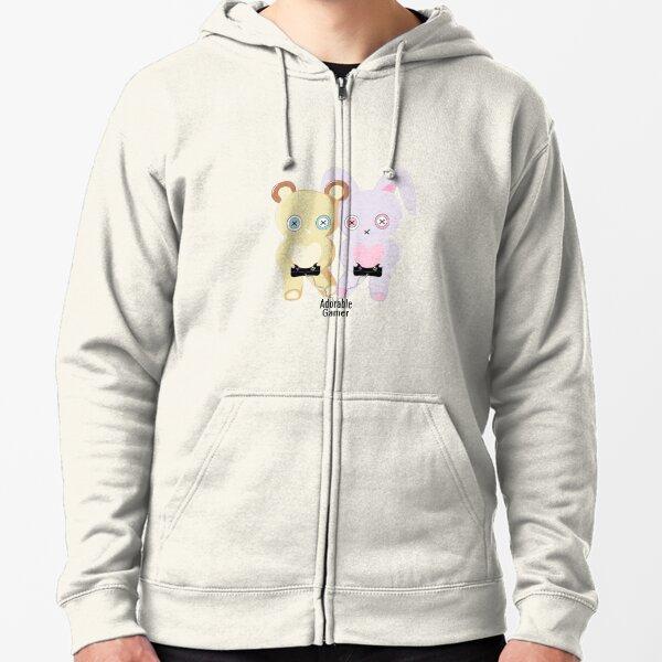Adorable Gamer ~ Teddy & Bunny Zipped Hoodie