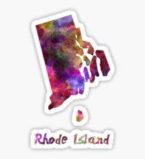 Rhode Island US state in watercolor Sticker