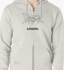 London tube map Zipped Hoodie