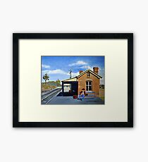 WAITING- STUART TOWN NSW Framed Print