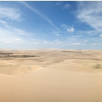 Expansive sand dunes panorama by cannboys