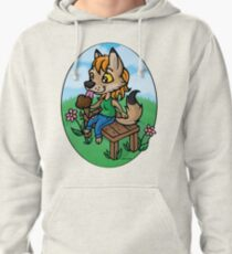 Summertime Treat - Coyote with Ice Cream Pullover Hoodie