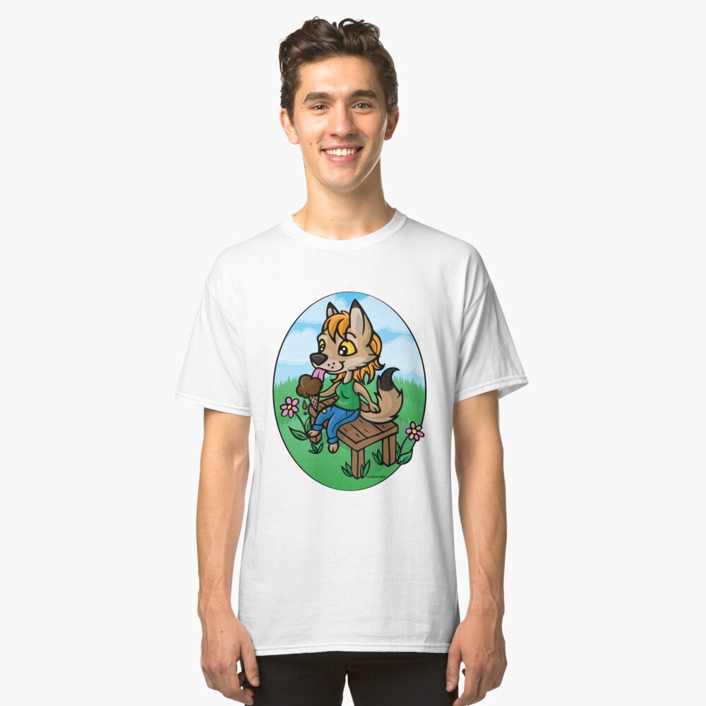 Summertime Treat - Coyote with Ice Cream Classic T-Shirt