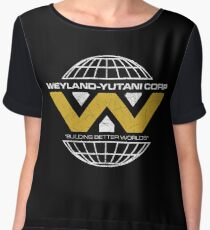 The Weyland-Yutani Corporation Globe Women's Chiffon Top