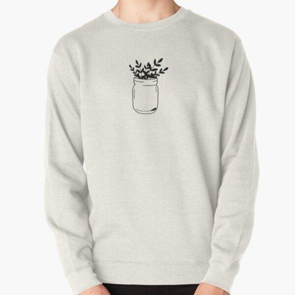 classic mason jar with leaves  Pullover Sweatshirt