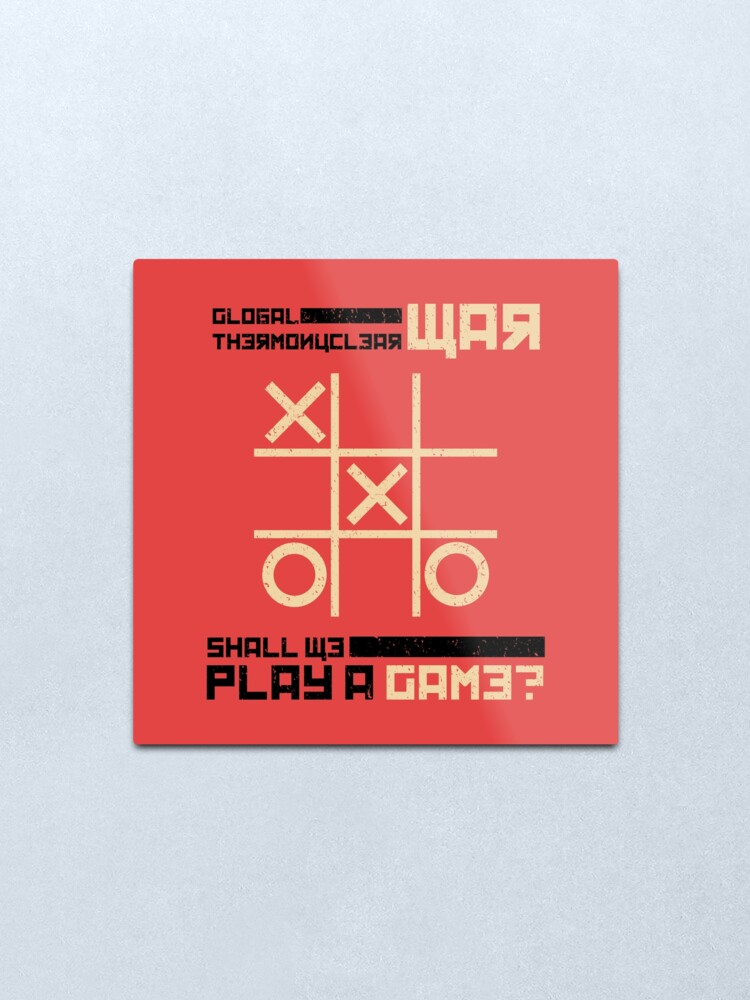 Alternate view of War Games Metal Print