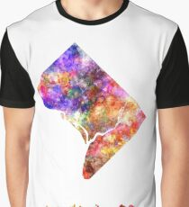 Washington DC US state in watercolor Graphic T-Shirt