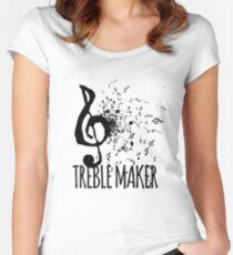 Treble Maker Music Pun Women's Fitted Scoop T-Shirt