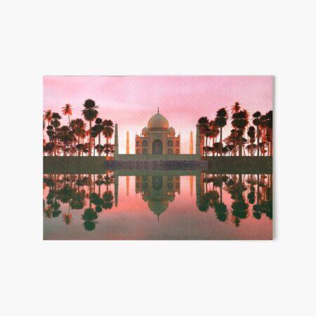 Taj Reflection Art Board Print