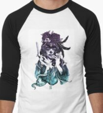 Dia de los Muertos - Night Shade Men's Baseball ¾ T-Shirt