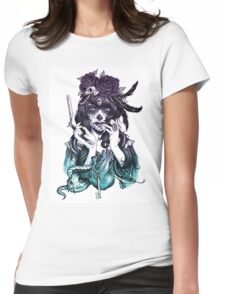 Dia de los Muertos - Night Shade Womens Fitted T-Shirt