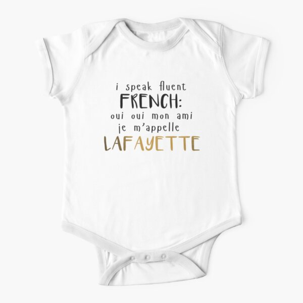 Fluent French Short Sleeve Baby One-Piece