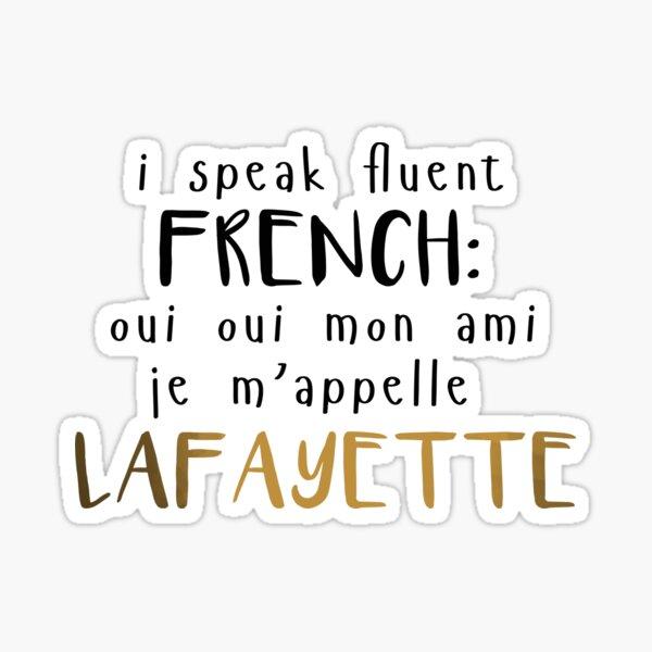 Fluent French Sticker