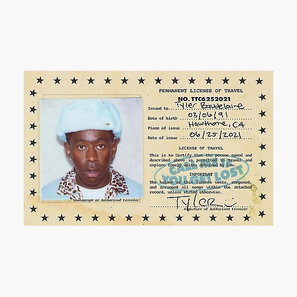 Tyler - Permanent License Of Travel Photographic Print
