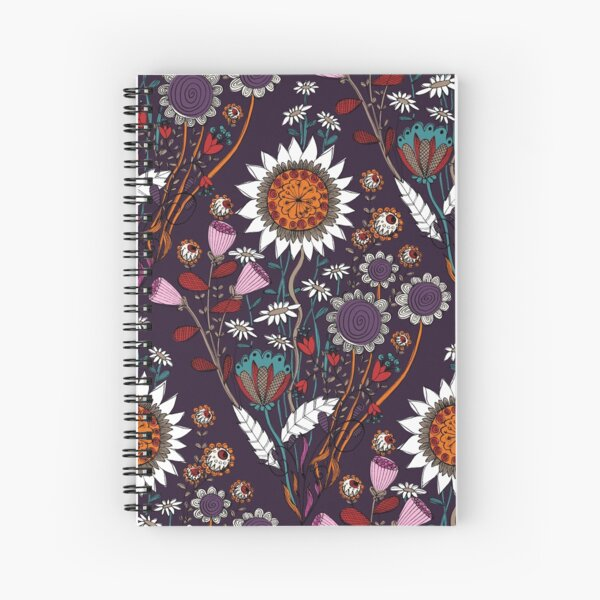 Purple Boheme Spiral Notebook