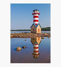 Grafton Lighthouse in Illinois Photographic Print
