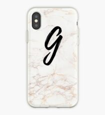 Pink Marble Effect Monogram - G iPhone Case