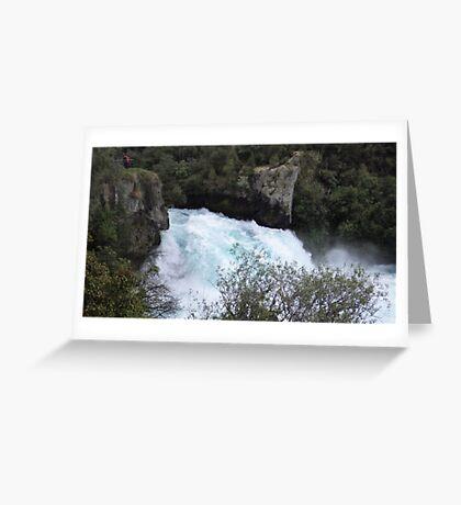 Huka Falls Greeting Card