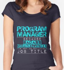 Program Manager Women's Fitted Scoop T-Shirt