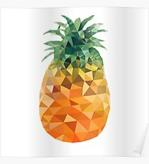 Low Poly Pineapple Poster