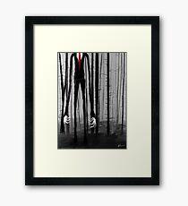 Slenderman Framed Print