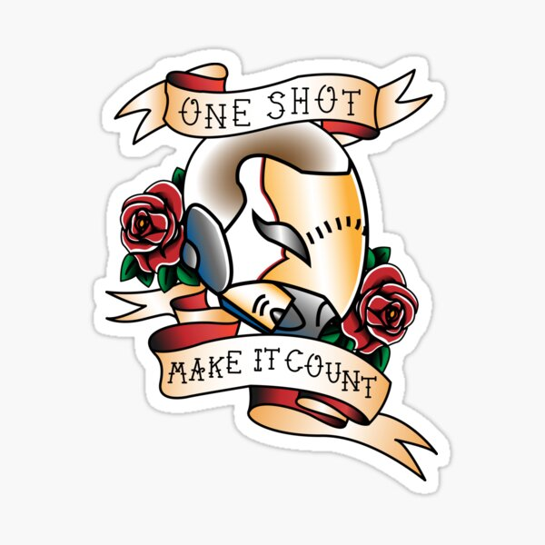 Ein Schuss Sticker