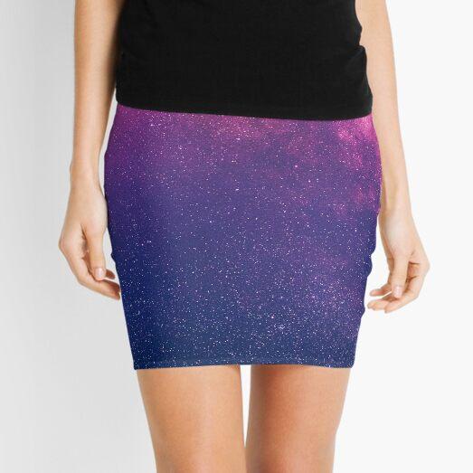 Purple Galaxy Mini Skirt