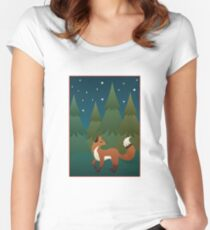 Forest Fox Women's Fitted Scoop T-Shirt