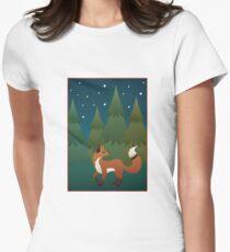Forest Fox Women's Fitted T-Shirt
