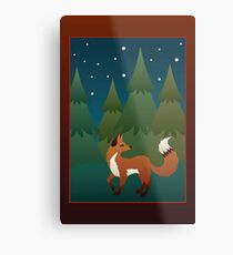 Forest Fox Metal Print