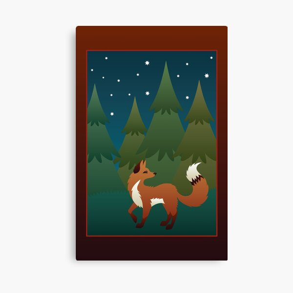 Forest Fox Canvas Print