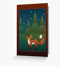Forest Fox Greeting Card