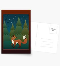 Forest Fox Postcards