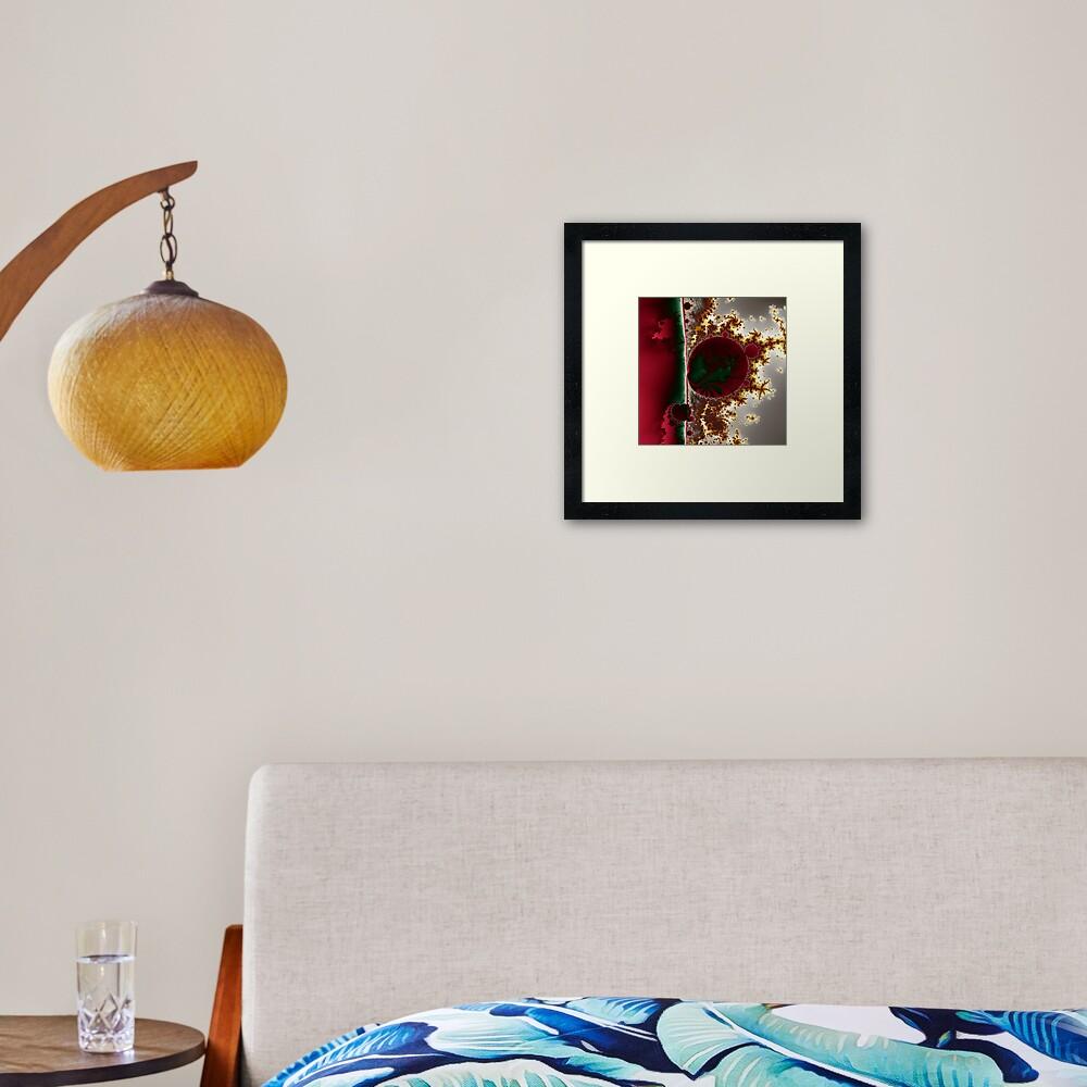 Mandelbrot at the Edge No. 1 Framed Art Print