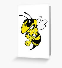 Fairview High School fighting Yellow Jacket - right Greeting Card