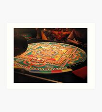 Tibetan Buddhist Sand Mandala Art Print