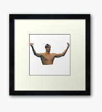 Phelps 200 Fly Win Reaction Framed Print