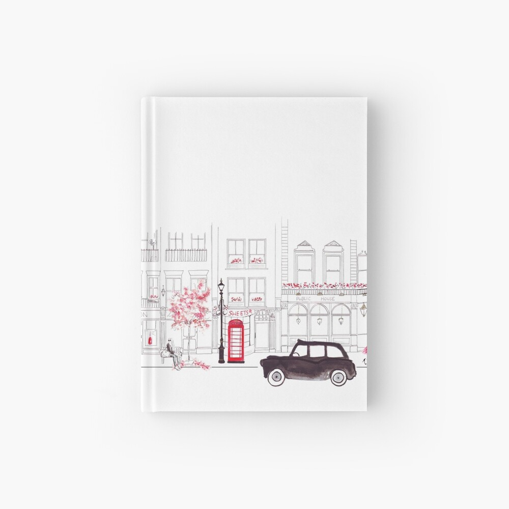 London Street Scene - Seven Dials Hardcover Journal
