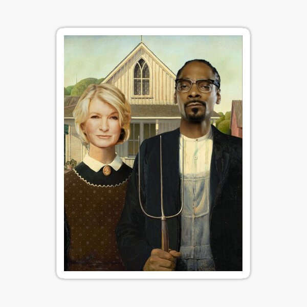 Snoop Martha American Gothic Sticker