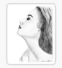 Grace Kelly drawing Sticker