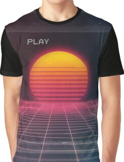 Digital sunset Graphic T-Shirt